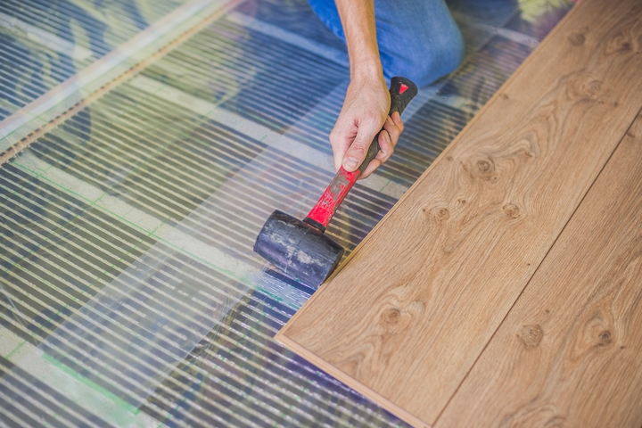 Underfloor heating is one of the innovative home heating options.